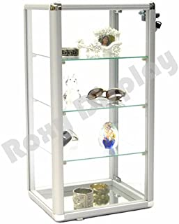 ROXYDISPLAY™; (SC-KD Counter TOP Glass CASE, Standard Aluminum framing,with Sliding Glass Door and Lock