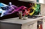 DIMEX LINE Küchenrückwand Folie selbstklebend SCHWARZER Rauch | Klebefolie - Dekofolie - Spritzschutz für Küche | Premium QUALITÄT - Made in EU | 180 cm x 60 cm