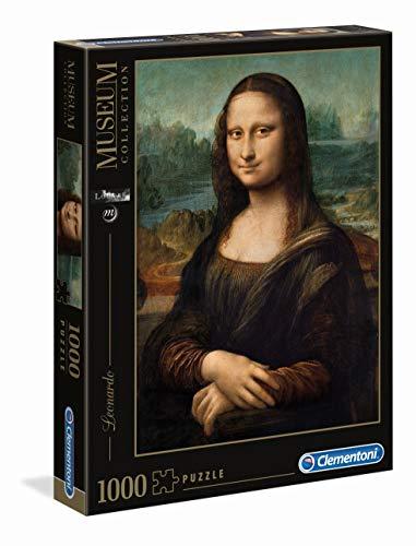 Clementoni Rompecabezas Puzzle 1000 Piezas Museos Leonardo: Mona Lisa, 12+ (31413)