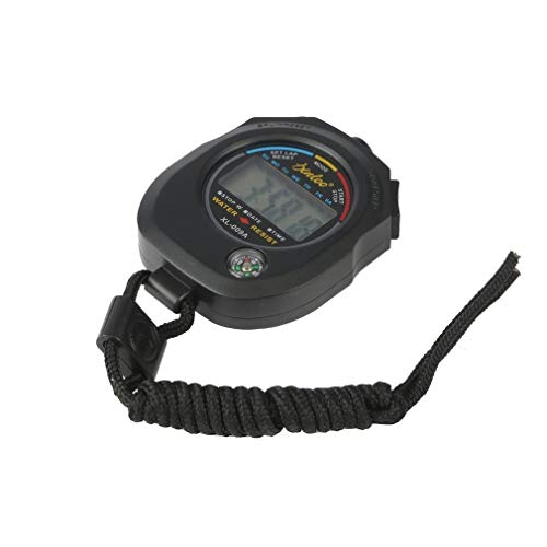 Z-Y Timer keuken Sports Stopwatch Professional Handheld Digital LCD Sports Stopwatch chronograaf Counter Timer met Riem