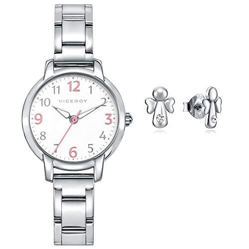 Reloj Viceroy Niña Pack 461138-05 + Pendientes Angelito