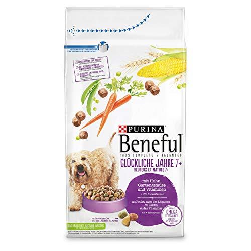 PURINA BENEFUL Glückliche Jahre 7+ Senior Hundefutter trocken, mit Huhn und Gartengemüse, 1er Pack (1 x 12kg)