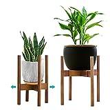 YEALEO Soporte Ajustable para Plantas, Moderno Soporte para Macetas, para Interiores y Exteriores, 21-30 cm, Color Primario-1 Unidad