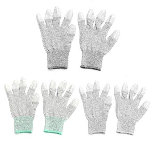 KUNSE Anti-Statische rutschfeste Handschuhe Pc Computer ESD Elektronische Arbeiten Arbeits-Schutz-M