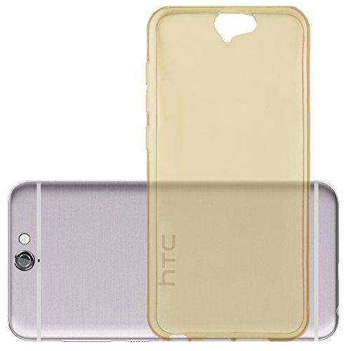 Preisvergleich Produktbild Cadorabo Hülle für HTC ONE A9 in TRANSPARENT Gold - Handyhülle aus flexiblem TPU Silikon - Silikonhülle Schutzhülle Ultra Slim Soft Back Cover Case Bumper