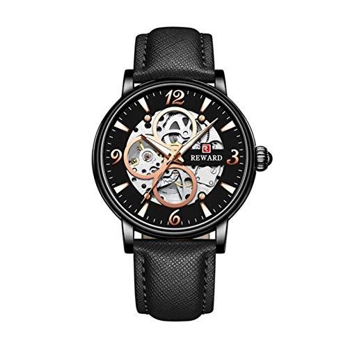 Qilo Moda de Lujo Reloj de los Hombres del Caso Transparente esquelético automático de los Relojes mecánicos de los Hombres de Negocios a Prueba de Agua Reloj del Deporte Regalo de cumpleaños Navidad