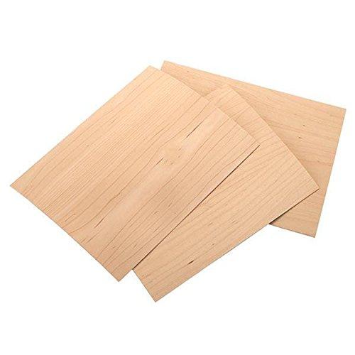 Sauers Maple Veneer 8-1/2' x 11' – 2-ply Wood on Wood, 3 Pieces