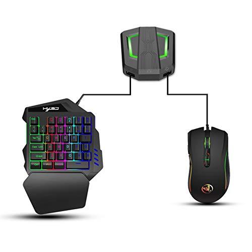 DaMohony Tastatur Maus Konverter Gamepad Controller Konverter Kompatibel für Ps4 / Xbox One / Ps3 / Xbox 360 / N-Schalter