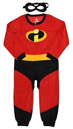 Disney Pixar Incredibles 2 Unisex Kids Union Suit Pajama with Mask (4/5)