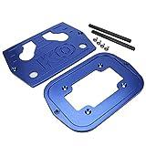 XINMYD Bandeja de batería, Acero Inoxidable Bandeja de batería sujeta hacia Abajo para batería Optima 34/78 Parte Superior roja Amarilla(Azul)