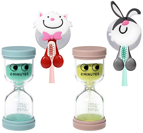 J JHOUSELIFESTYLE 2 Minute Sand Timer for Brushing Teeth - Sand Timer for...