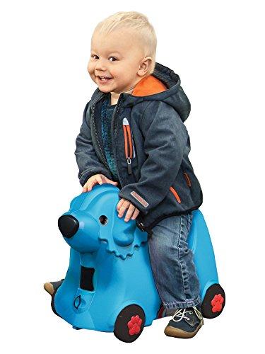BIG 800055352 - Bobby-Trolley, Kinderkoffer, Kindergepäck, blau - 2