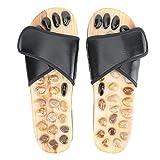 Uxsiya Sandalias, Reflexology Zapatos Multifunción Masaje Pies Masajeador con Reducir el Estrés para la Ducha de Baño (negro, 37-38)