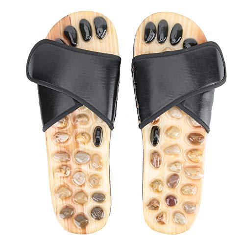 ViaGasaFamido Fußmassage Hausschuhe, Fußreflexzonenmassage Hausschuhe Fußmassageschuhe Shiatsu Relax Pebbles Stone Sandalen für Männer Frauen(39-40)