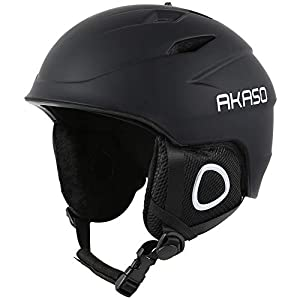 AKASO Ski Helmet, Snowboard Helmet – Climate Control Venting, Dial Fit, Goggles Compatible, Removable Fleece Liner and Ear Pads, Safety-Certified Snow Helmet for Men & Women