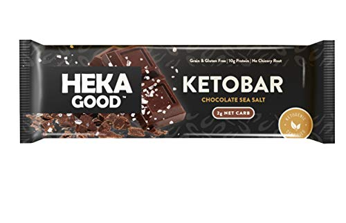 Heka Good Foods Low Carb Keto Bars, Chocolate Sea Salt, 2g Net...