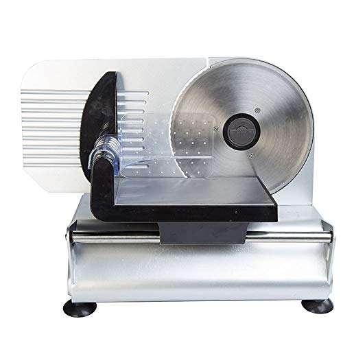 Electric Meat Slicer Commercial Grade Adjustable Knob for Thickness, Precision Frozen Meat Deli Cheese Fruit Vegetable Bread Food Slicers for Fast and Efficient Slicing 150W,110V