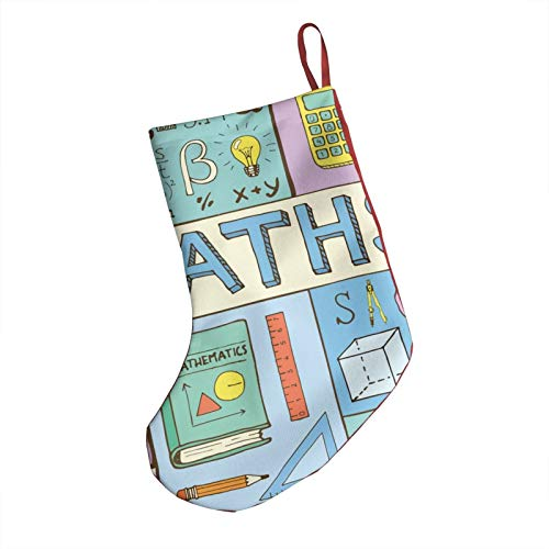 Christmas Stockings 3d Mathematic Concept Poster Large Capacity Xmas Stocking 18' For Christmas Tree Decorations & Gift Stuffers For Kids