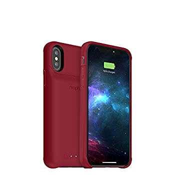mophie 401002830 Juice Pack Access - Ultra-Slim Wireless Battery Case - Made for Apple iPhone Xs/iPhone X  2,000mAh  - Dark Red
