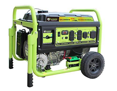 Dual Fuel Generator-12,000 Watts Generator - Green-Power America GN12000DEW