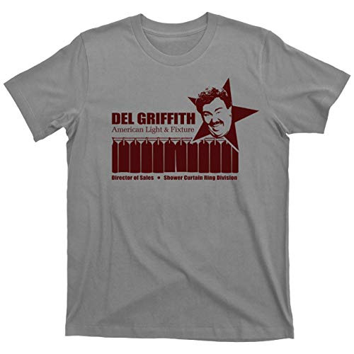 Del Griffith Planes, Trains and Automobiles Shower Curtain Ring Salesman T Shirt (Thanksgiving Day Gray, X-Large)