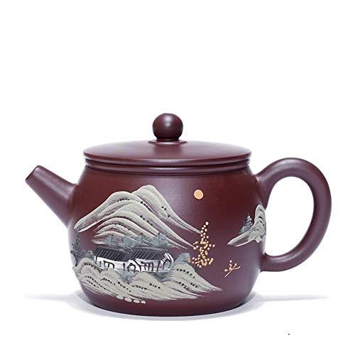 CRTTRC Tetera Pot Tetera de Yixing Jade púrpura del Arco Iris Zhuni Famoso Hecho a Mano de té de la Tetera de Viajes (Color : Purple Zhu Mu, Size : One Size)