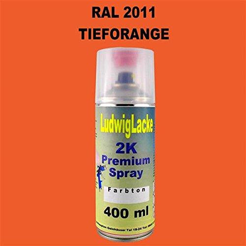 Ludwig Lacke RAL 2011 TIEFORANGE 2K Premium Spray 400ml