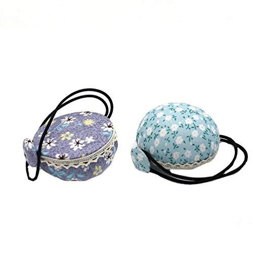 Exceart - 2 almohadillas de aguja con muñequera y cojín, para coser o hacer manualidades, para máquina de coser o para el hogar (color al azar)