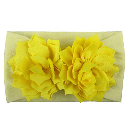 Huhu833 Baby Stirnbänder, Cute Baby Kleinkind Infant Circle Stirnband Blumen Haarband Zubehör Headwear (Gelb)
