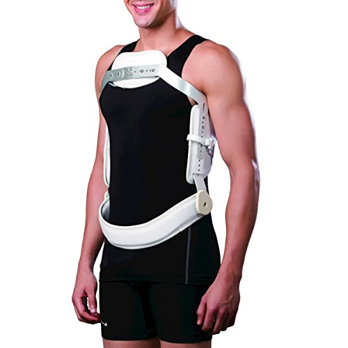 Orthomen Hyperextension Back Brace Limit Forward Bending Spine & Provides Stabilization and Comfort for Lumbar Back Pain (L)