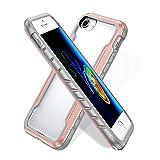 BAIYUNLONG Funda Protectora, for iPhone SE 2020/8/7 Blade Metal Clear PC + TPU Funda Protectora a Prueba de shoc (Color : Rose Gold)