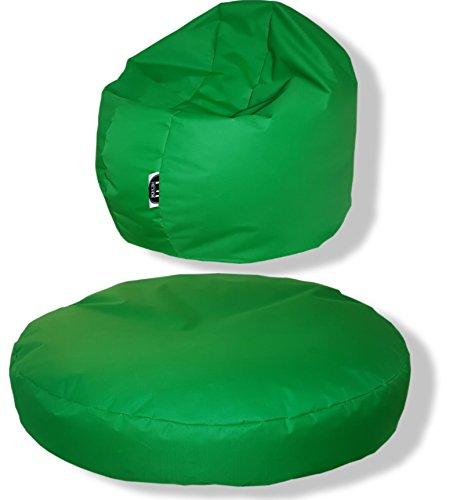 Patchhome Coussin Rond 2 en 1 pour l'intérieur et l'extérieur 145 x 20 cm Couleurs :, Vert, 145x20cm
