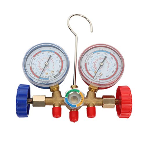 Fantastic Deal! Car Air Conditioning and Fluoride Gauge Refrigerant Double Gauge Valve Air Condition...