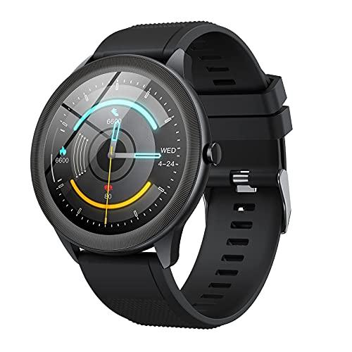 Vigorun Smartwatch, Reloj Inteligente Pantalla Táctil 1.3' Hombres Mujeres, IP68 Impermeable 10 Modos Deportivos 24H Fitness Monitor de Sueño Frecuencia Cardíaca Podómetro para Android