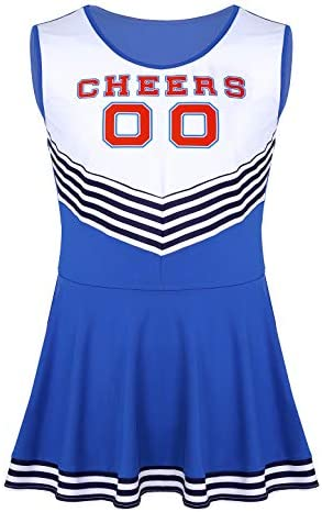 ACSUSS Men s Sissy Cheer Leader Stag Do Night Festival Fancy Dress Costume Outfit Blue XX Large product image