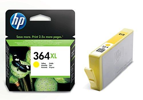 HP 364XL Gelb Original Druckerpatrone mit hoher Reichweite für HP Deskjet 3070A, 3520; HP Photosmart 5510, 5515, 5520, 5525, 6510, 6520, 7510, 7520, C5324, C5380, C6324, C6380, B8550, D5460; HP Officejet 4620, 4622
