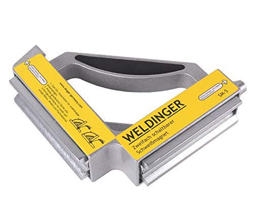 WELDINGER Schweißmagnet SM-5 doppelt schaltbar (Winkelmagnet 148x148x38 mm bis 2x50 kg)