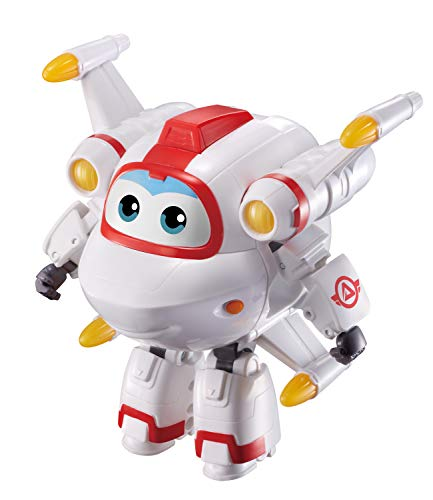SUPER WINGS – Transforming Astro – 12 cm großes verwandelbares Spielflugzeug und Roboterfigur – Verwandelbare Figur und Roboter aus der Zeichentrickserie Super Wings