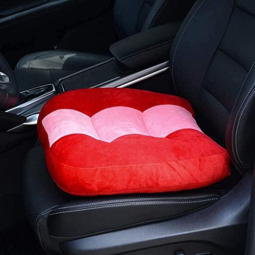 Almohadilla de la silla de oficina grande del cojín del cojín del automóvil portátil, los cojines del asiento del elevador del conductor, aumentan efectivamente el campo de la vista Ideal para el auto