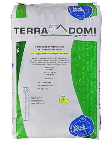 Terra Domi 25 kg Patentkali für über 1000m² I langzeit Rasendünger für die optimale Wurzelstärkung I Kaliumdünger für Starke Wurzeln und ausgiebige Widerstandsfähigkeit