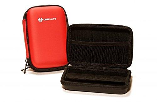 Case4Life Rojo Dura cámara compacta Funda Caso Bolsa para Nikon Coolpix A, AW110, AW120,...