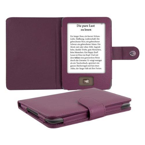 kwmobile Flip Hülle Hülle kompatibel mit Tolino Shine - eReader Tasche Schutzhülle Cover Violett