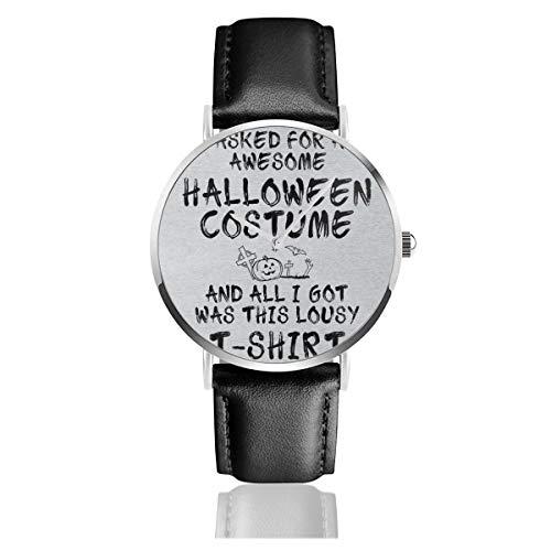 Relojes Unisex para Negocios, Casuales, para Halloween, Camisetas, de Cuarzo, con Correa...