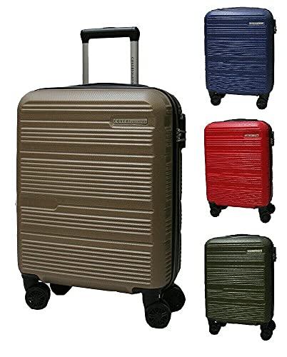Set trolley abs rigido 3 pz valigie viaggio bagaglio a mano 8 ruote 80100 Grigio Scuro Cm 70/60/50 Grande/Media/Piccola