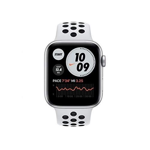 Apple Watch SE Cellular Nike 44 mm aluminio plateado correa Nike Sport platino puro/negro