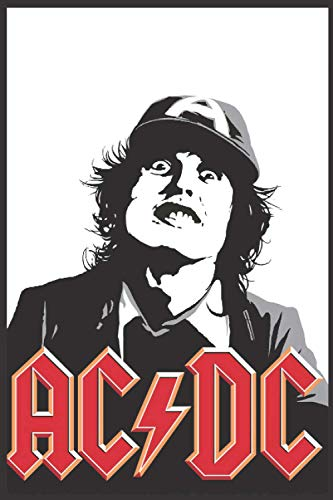 """ACDC: 6"""" x 9"""" 120 Pgaes, Journal For ACDC . Best Gift For ACDC Fans. Black Cover JournalACDC . ACDC Book. Winter is Coming ACDC , Stark. House Stark Ruled Notebook.ACDC Dragon.ACDC Journal"""