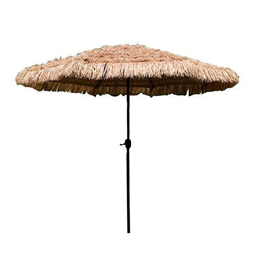 LCYXM Ombrellone da Esterno 2.7M, Ombrellone in Paglia Artificiale, Ombrellone da Spiaggia alle Hawaii, Ombrellone da Esterno, con Disegno A Manovella, Utilizzato per Balcone/terrazza/Spiaggia -se