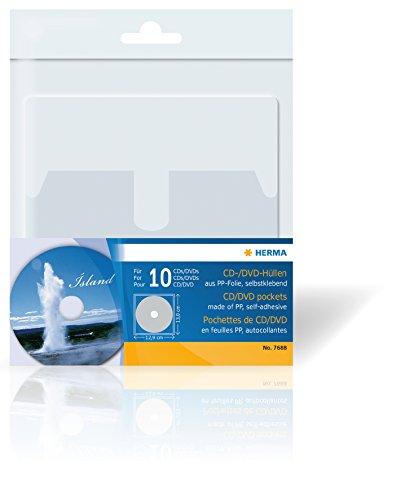 Herma 7688 CD/DVD-Hüllen, 129 x 130, mm 10 Hüllen