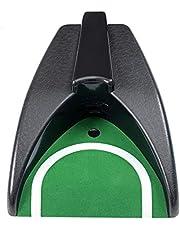 LIOOBO Putter de Golf portátil Entrenamiento automático de la máquina de Retorno de Golf Oficina Interior Agujero de Golf Práctica de Retorno automático Césped al Aire Libre