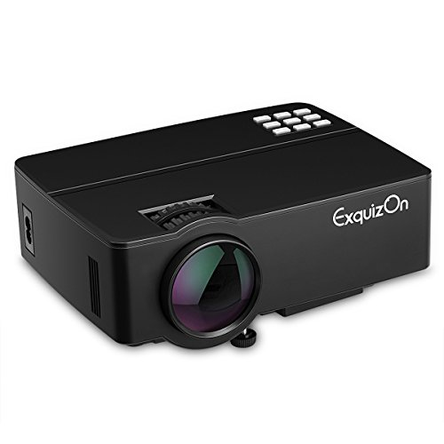 Exquizon E08 - LED Proyector Home Cinema Multimedia (800x480P, Soporta...